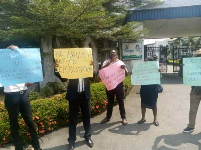 Magistrates protesting in Calabar