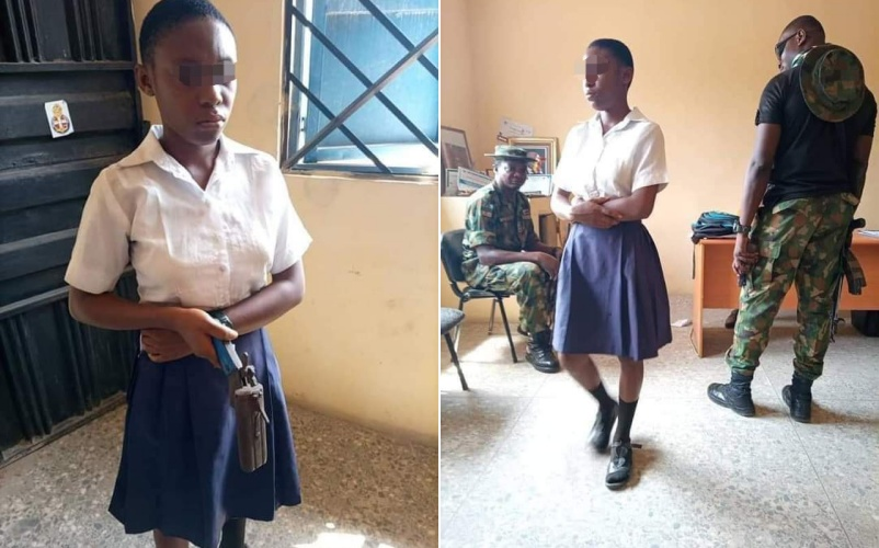 I Am A Member Of Sky Queen Confraternity, School Girl Nabbed With Gun In Classroom Confesses