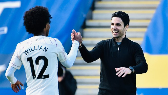 Arteta Praises Willian As Arsenal Thrash Leicester 3-1
