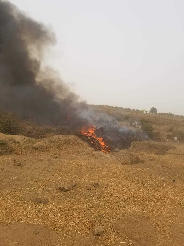 UPDATED: Military Aircraft Crashes Near Nnamdi Azikiwe Airport, Abuja [Video]
