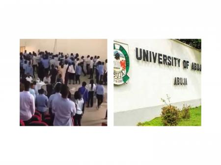 VIDEO: University Of Abuja Students Beat Lecturer After Exams