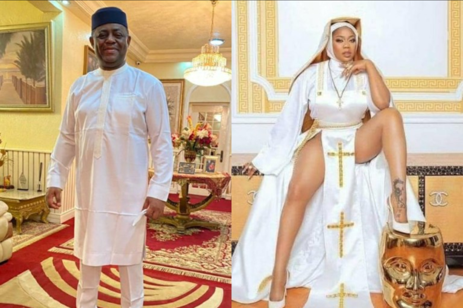 Toyin Lawani Dresses Up As Traditionalist After Backlash