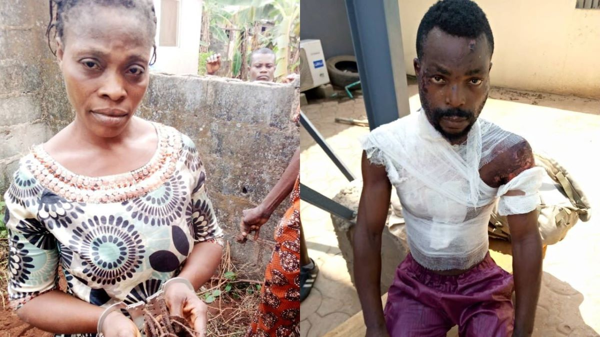 Poured boiling water on husband