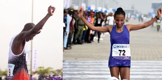 Nigerians Missing As Kenya, Ethiopian Win Lagos City Marathon, Receive $3,000 Each