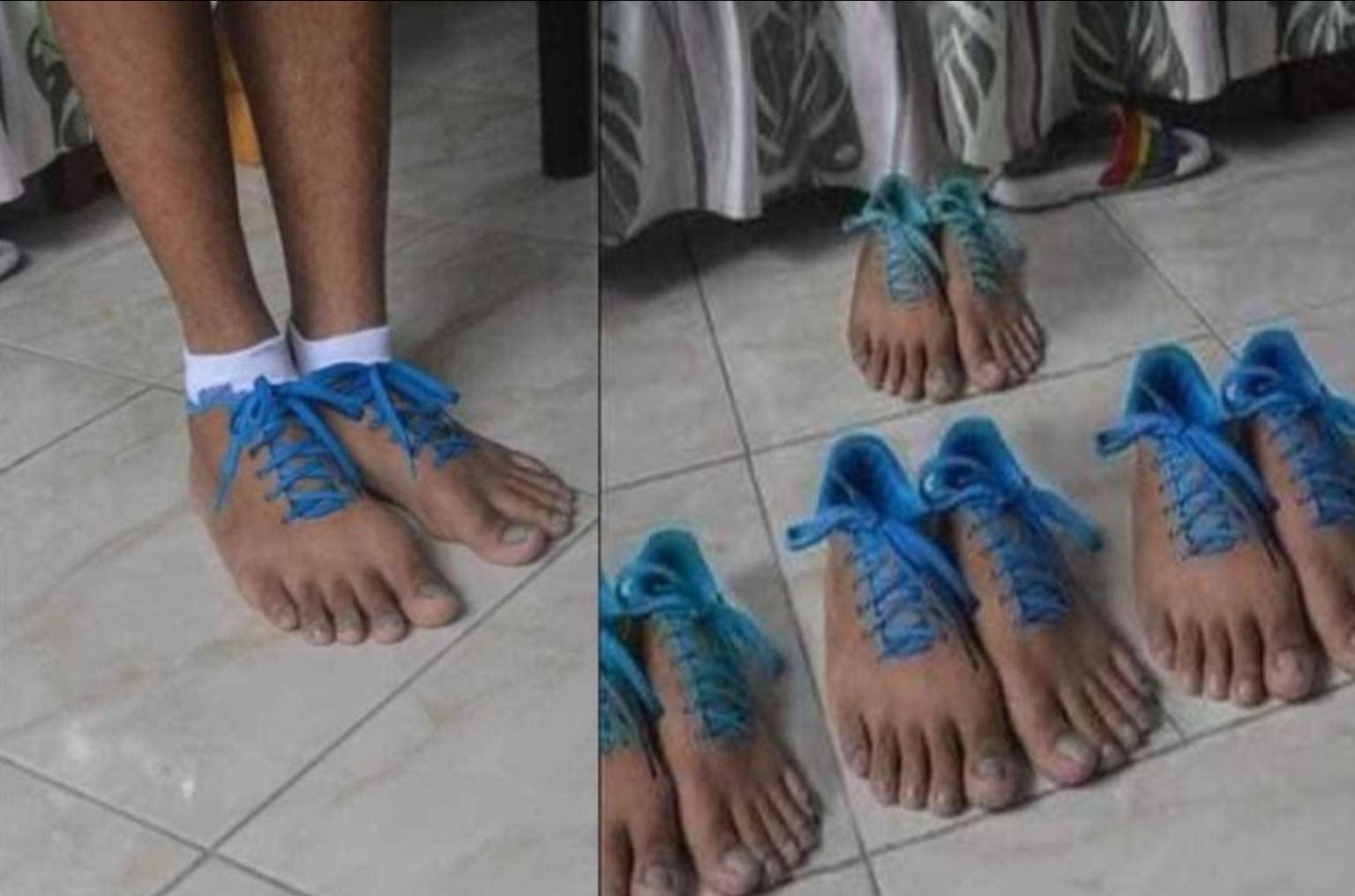 Reactions As Shoes Which Look Like Human Feet Surfaces Online
