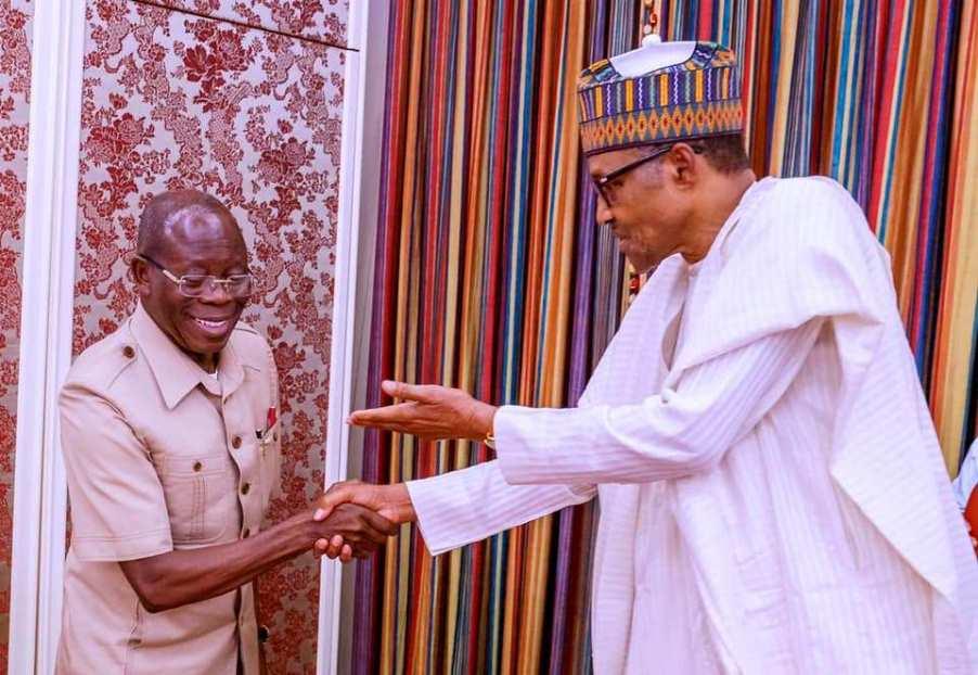 Buhari Celebrates 'Peoples's Comrade' Oshiomhole at 69