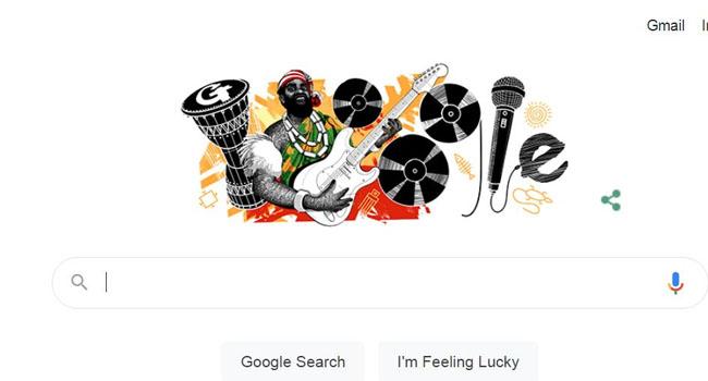Google Celebrates Highlife Musician Oliver De Coque on 74th Posthumous Birthday