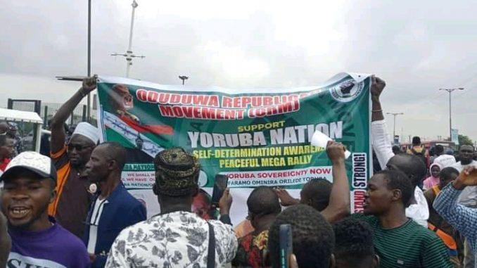 Yoruba Nation rally stray bullet