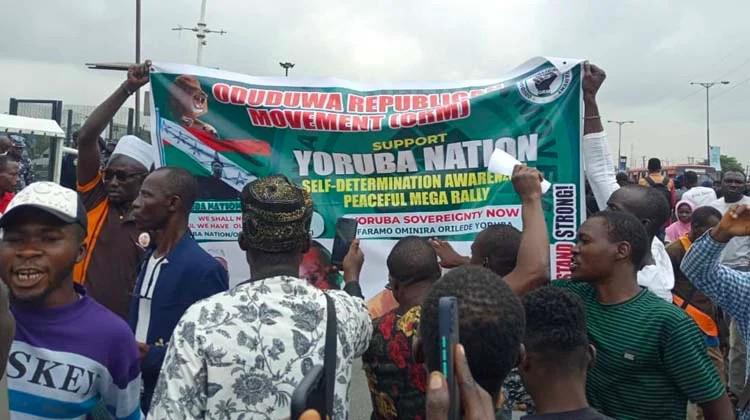 Mass Protest In Ibadan As 'Yoruba Nation Agitators' Demand Release Of Members Arrested