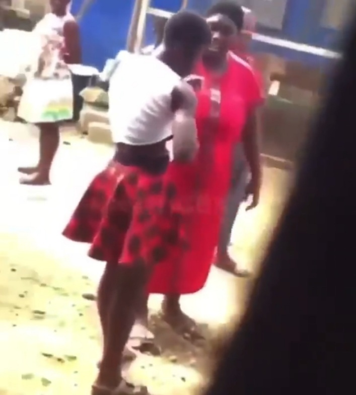 Woman beats up husband's side-chick